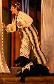 Luance and his dog, from Two Gentlemen of Verona